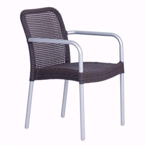 rita arm chair with all weather wicker
