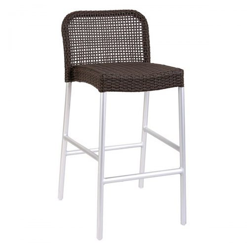 rita barstool in aluminum and all weather wicker