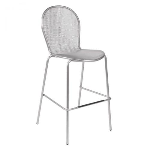 ronda barstool with steel structure and steel mesh seat and back