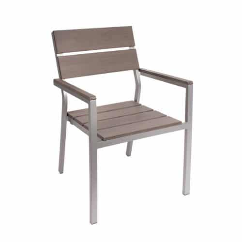 gray outdoor arm chair