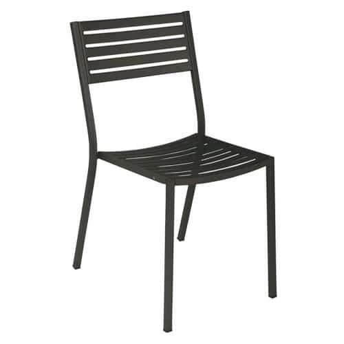 steel chair with slats
