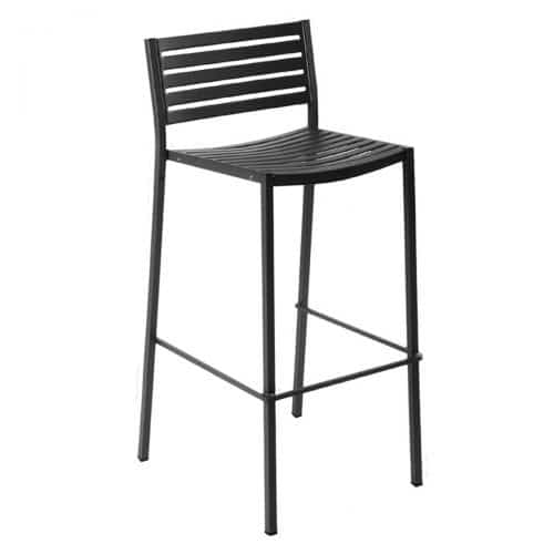 segno barstool with steel slats