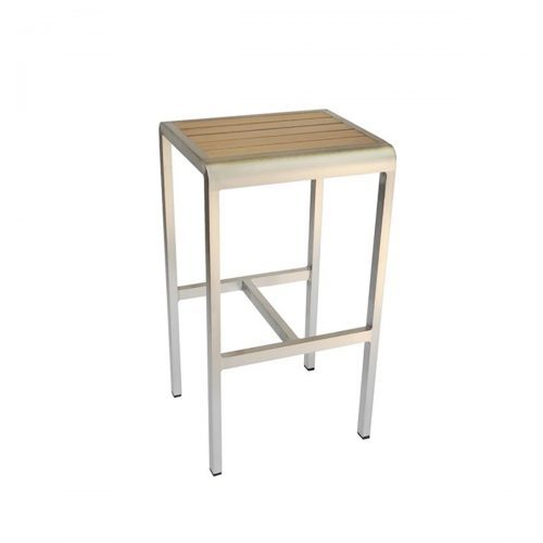 sid barstool no back with wood look aluminum