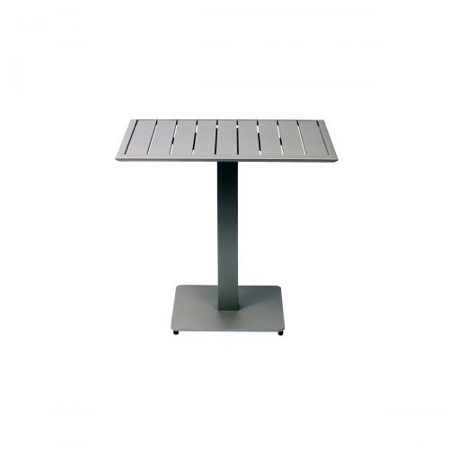 silver outdoor table top with base