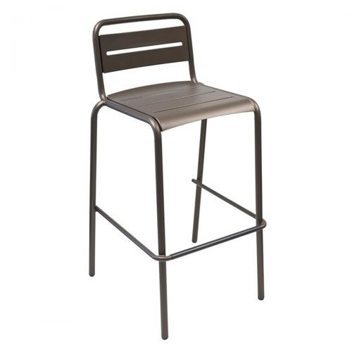 star barstool with steel slats