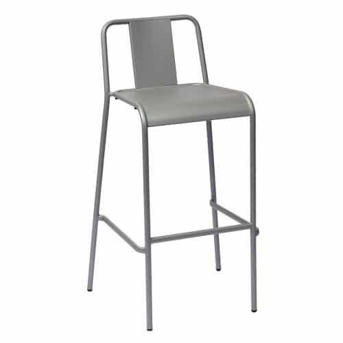 silver outdoor stackable barstool