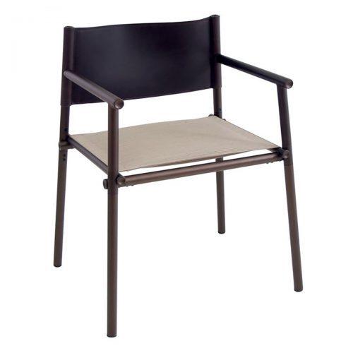 Terramare aluminum arm chair with textilene fabric