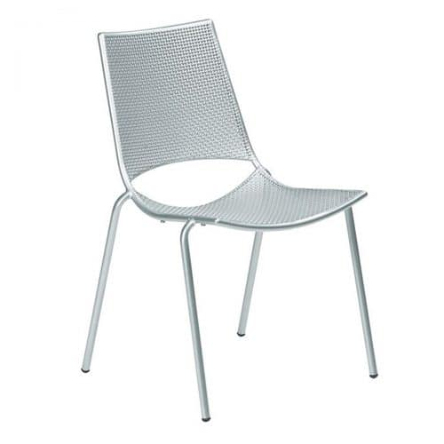 Small Interlace Steel Mesh side chair
