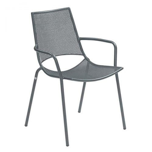 Topper steel with small interlace steel mesh arm chair