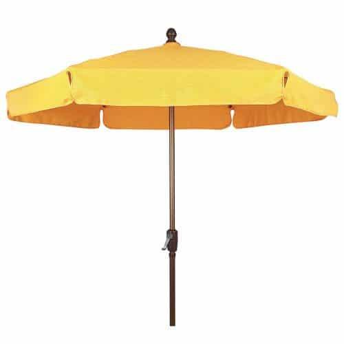 Garden umbrella with crank