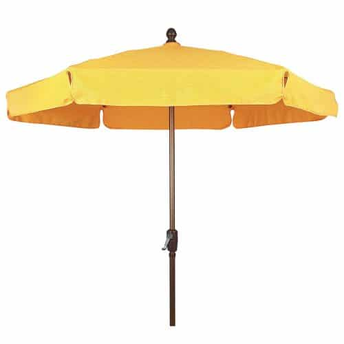 Garden umbrella with crank