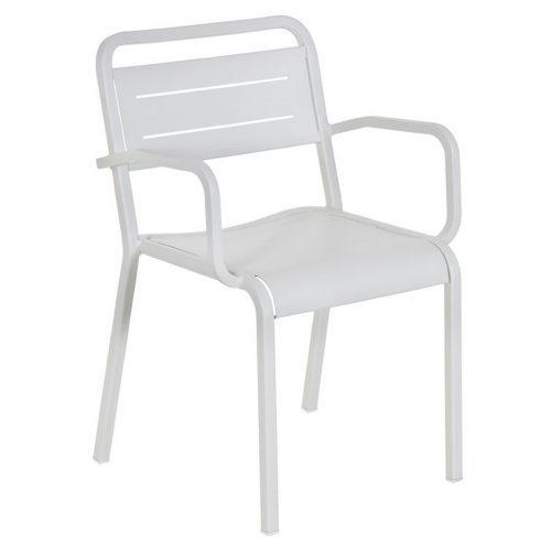 urban aluminum slat arm chair