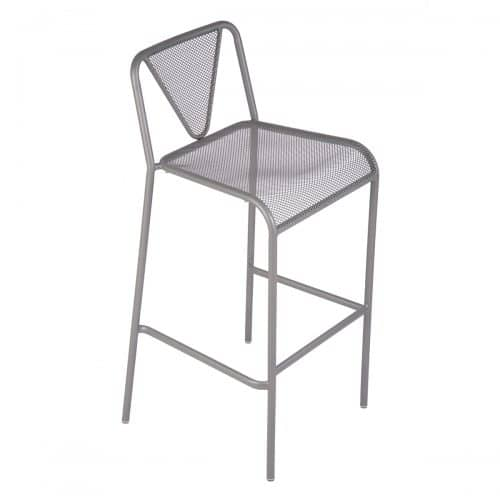 silver mesh stackable outdoor barstool
