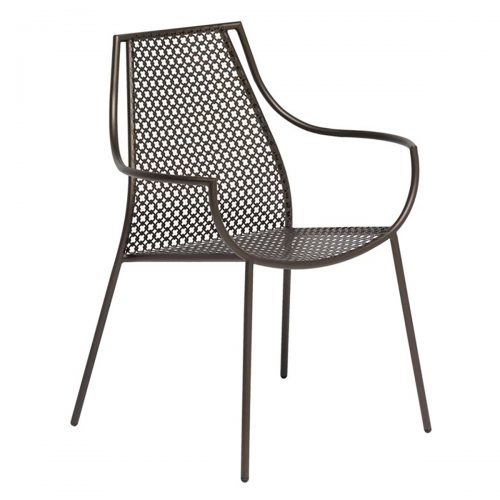 vera arm chair with steel design