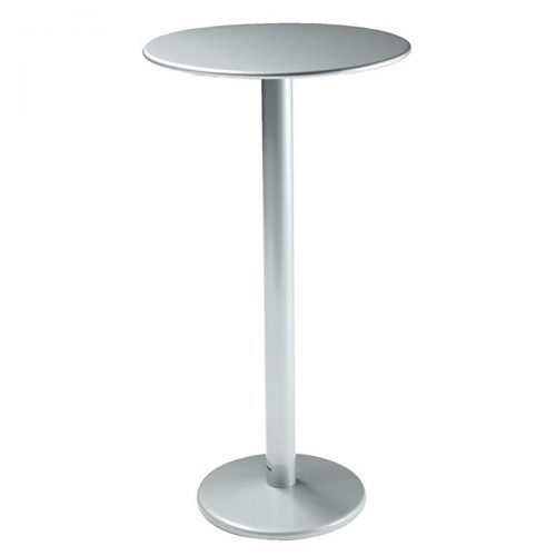 "bistro bar heigh table 24"" table top in steel"