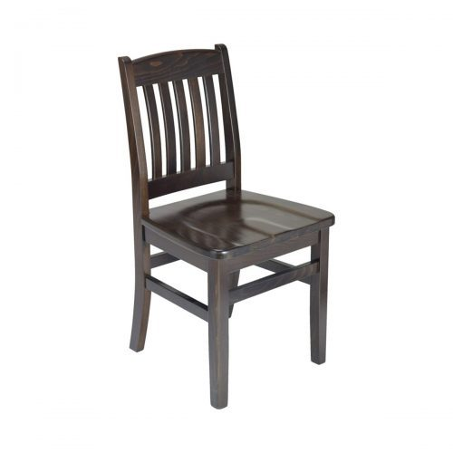 classic dark wood chair with saddle seat