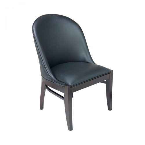 fully upholstered side chair with wood frame