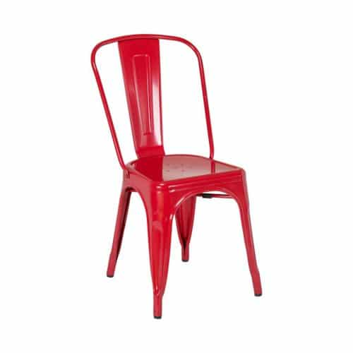 industrial chair in red