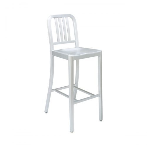 aluminum barstool with vertical back bars