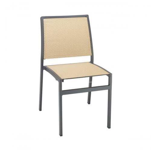 outdoor side chair with texured seat and back