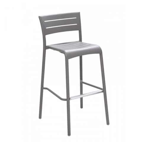 outdoor gray barstool