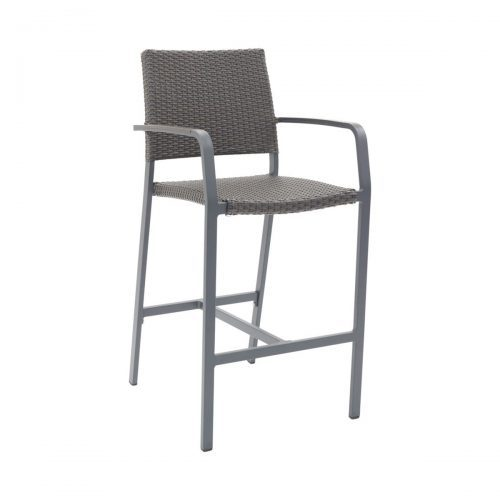 outdoor arm barstool in anthracite