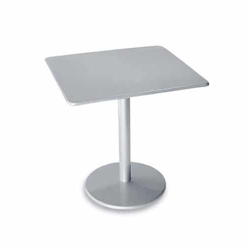 "solid steel bistro base 30"" square with round base"