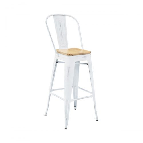 industrial barstool white wash