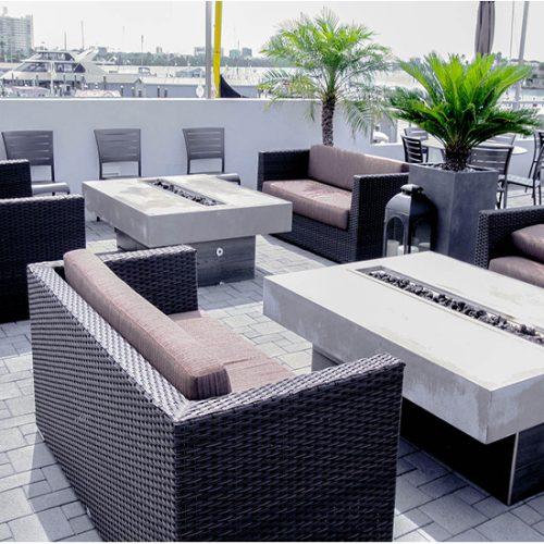 outdoor wicker lounge patio furniture