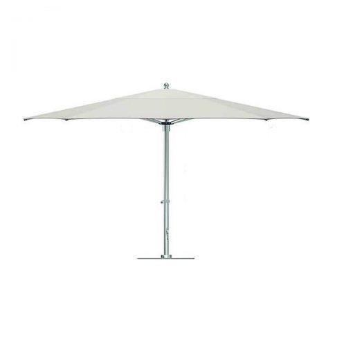 cream umbrella with silver post